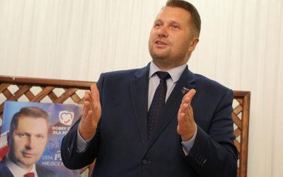 Wojewoda Czarnek odwiedził gminę Wojciechów