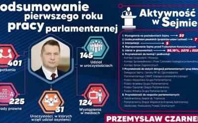 Pierwszy rok pracy parlamentarnej