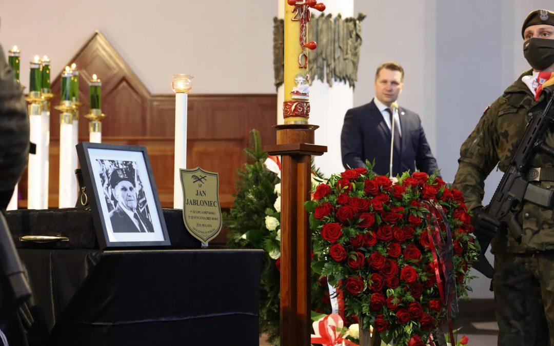 """Uroczystości pogrzebowe śp. mjr. Jana Jabłońca ps. """"Fiat"""""""