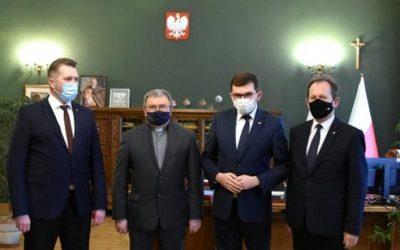 Wizyta Ministra Przemysława Czarnka w Małopolskim Urzędzie Wojewódzkim