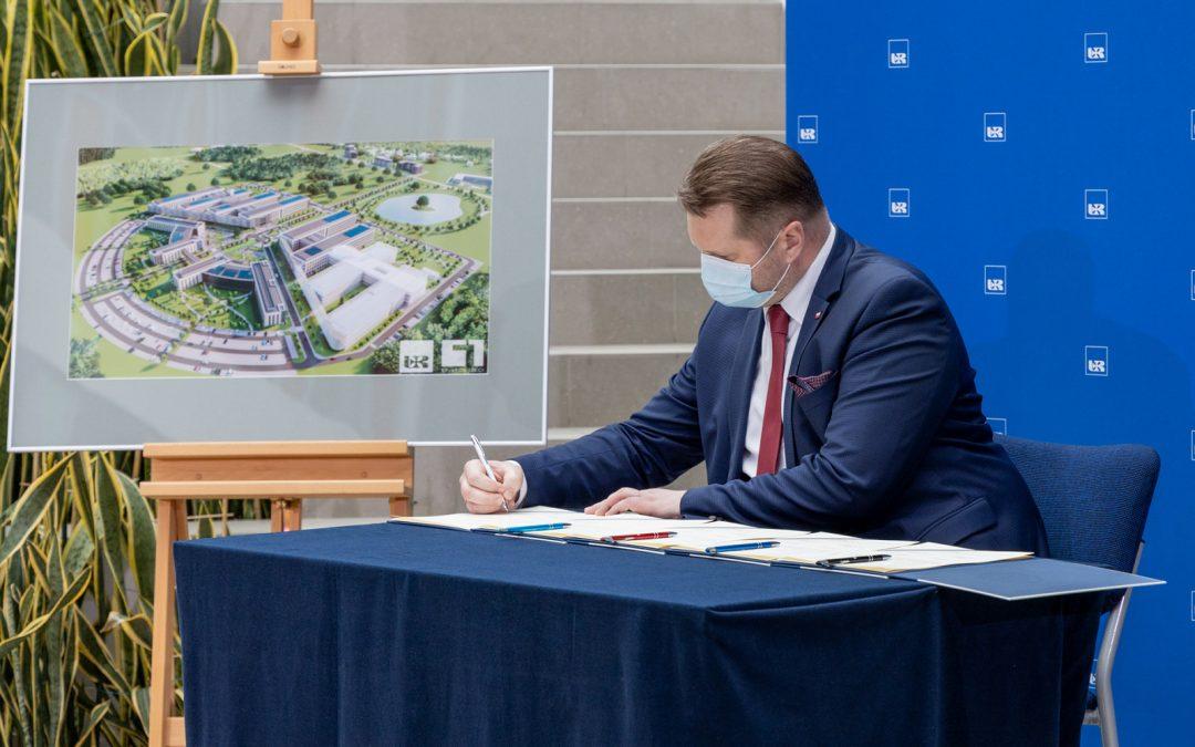 Podpisanie deklaracji na rzecz powstania Klinicznego Szpitala Uniwersytetu Rzeszowskiego