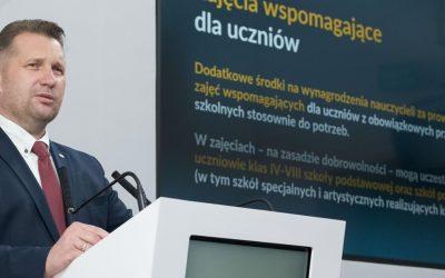 244 mln zł na 4 programy wsparcia uczniów po okresie pandemii