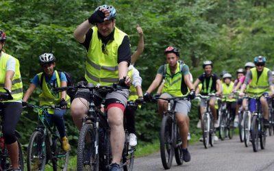 Wycieczka rowerowa dzieci z województwa lubelskiego z udziałem Ministra Przemysława Czarnka
