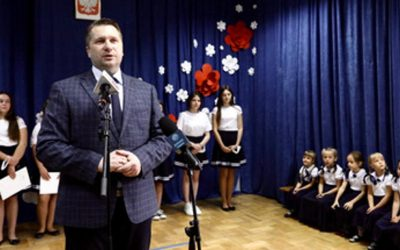 Wizyta w Szkole Podstawowej w Leścach