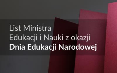 List Ministra Przemysława Czarnka z okazji Dnia Edukacji Narodowej